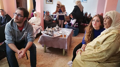 Arabic students volunteer with cancer patients in Rabat