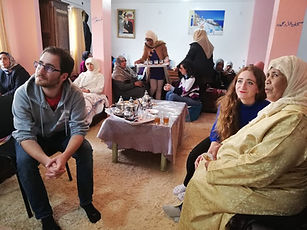 Arabic students visit a home for Moroccans with cancer