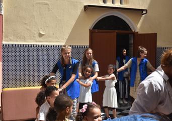 Qalam volunteers at Madrasa Nahda