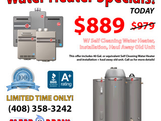 WATER HEATER SPECIAL!!