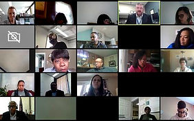 Parents and educators in a Zoom meeting