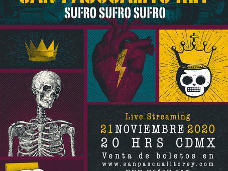 San Pascualito Rey anuncia su tercer show en línea: Sufro, sufro, sufro