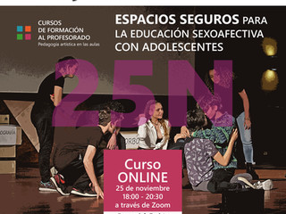 Taller: Espacios seguros para la educación sexoafectiva con adolescentes 25N CURSO ONLINE