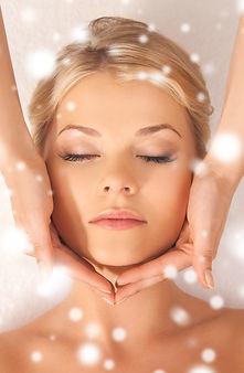 Lady Having Face Massage at Leelawadee Thai Massage Therapy Studio