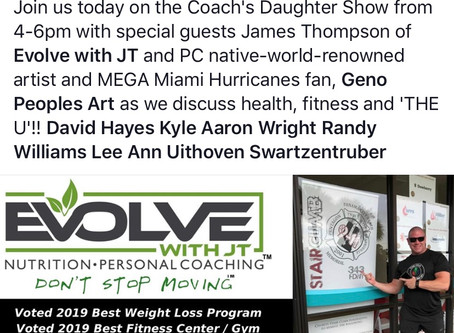 Tune In To The Coach's Daughter Show TONIGHT to Hear Coach JT Thompson Guest Speak!