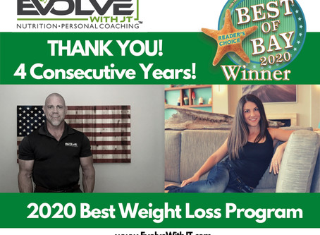 Evolve Wins Best Weight Loss Program 4 Years In a Row!