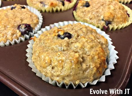 Blueberry Pecan Protein Muffins