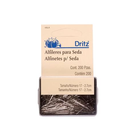 DRITZ ALFINETES P/ SEDA 49LA TAM 17 - 200 UND