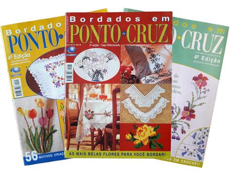 REVISTA ED. CENTRAL BORDADOS EM PONTO CRUZ