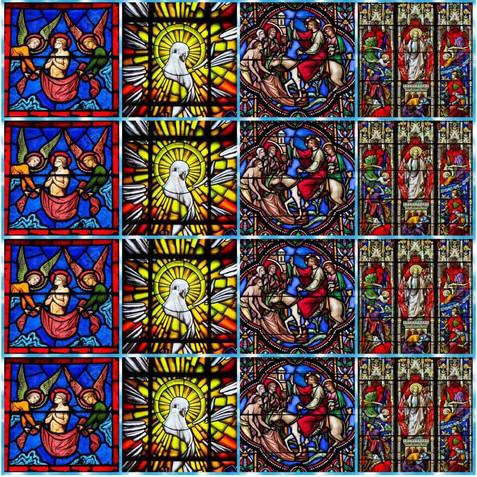 TEC ESTAMP DIGITAL 1,50L 3320/1 VITRAL RELIGIOSO ESPIRITO SANTO