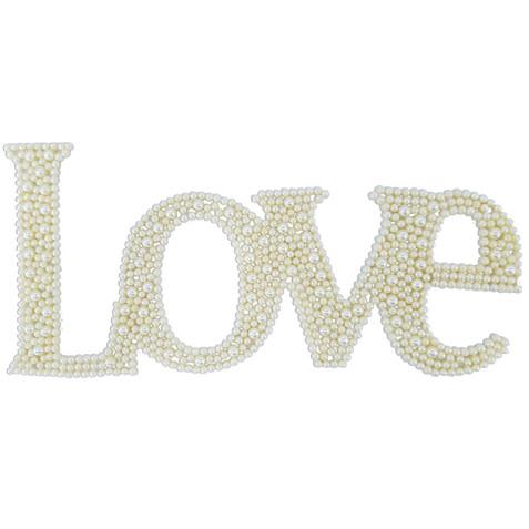 APLIQUE C/ PEROLA LOVE GRANDE MARFIM REF 0111 - UND