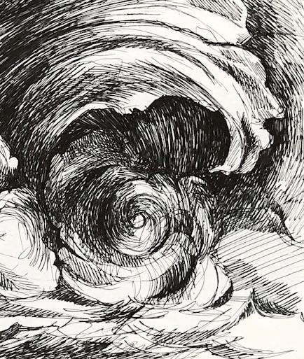 Journal Ink Wave Drawings