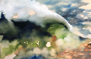 13 Big Band Wave, Gouache and Watercolor