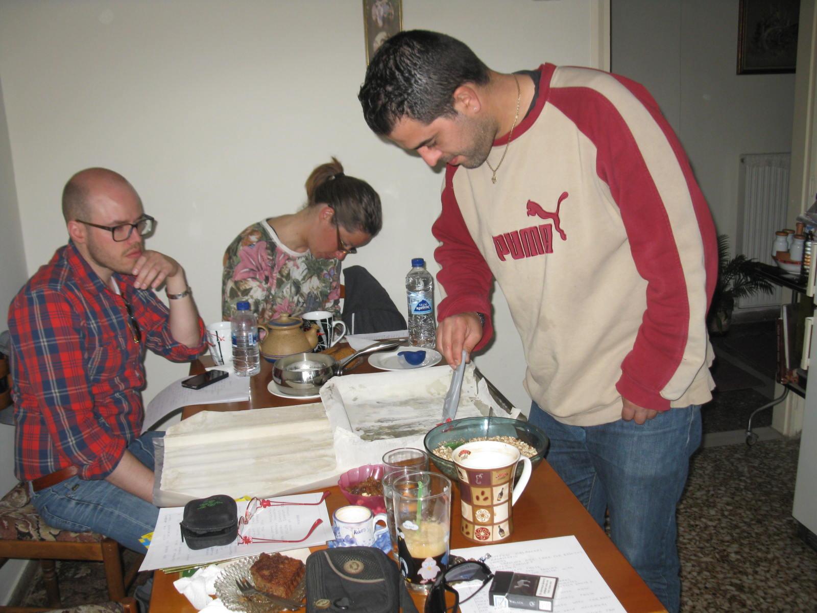 préparation du baklava