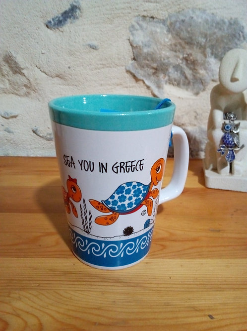 "Mug grand format ""Sea you in Greece"""