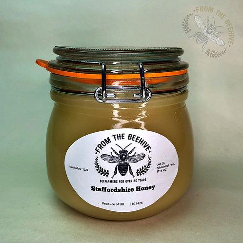 Pure Staffordshire Set Honey: Kilner Jar