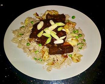 Honey & Soy Caramelised Beef with Egg Fried Rice