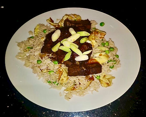Honey & Soy Caramelised Beef with Egg Fried Rice
