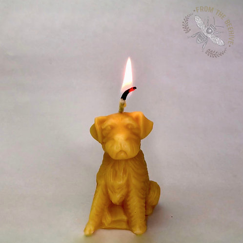 Beeswax Puppy Candle