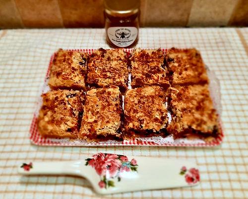 Apple & Blackcurrant Honey Crumble Squares