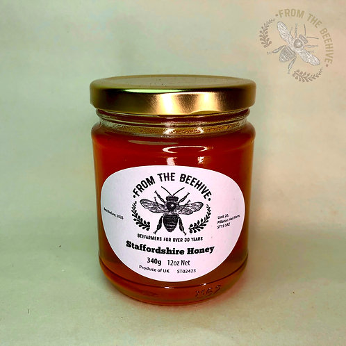 Pure Staffordshire Runny Honey: Goldtop Jar