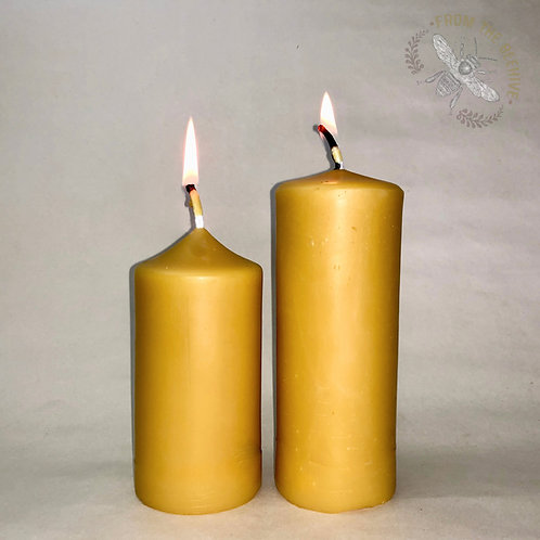 Medium Beeswax Pillar Candle