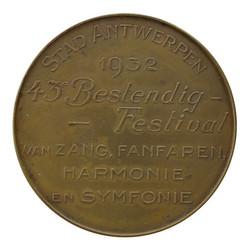 Medaille-penning Stad Antwerpen, voorzijde