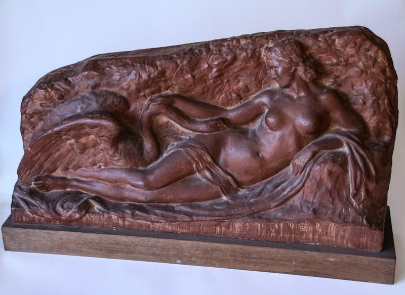 Leda en de zwaan (terracotta)