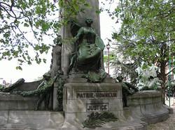 Achterzijde oorlogsmonument, Verviers