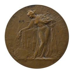 Medaille-penning Stad Antwerpen, achterzijde