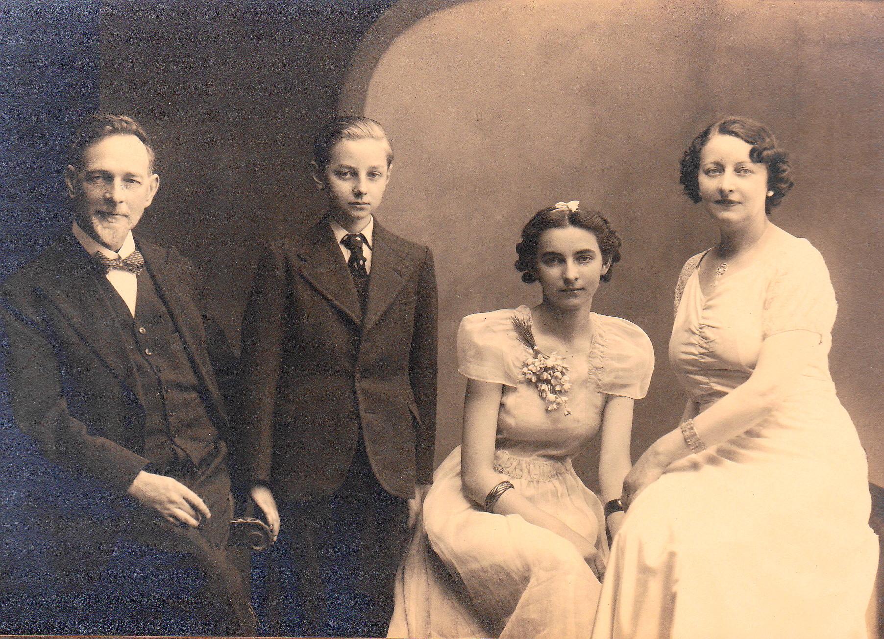 Met echtgenote en kinderen