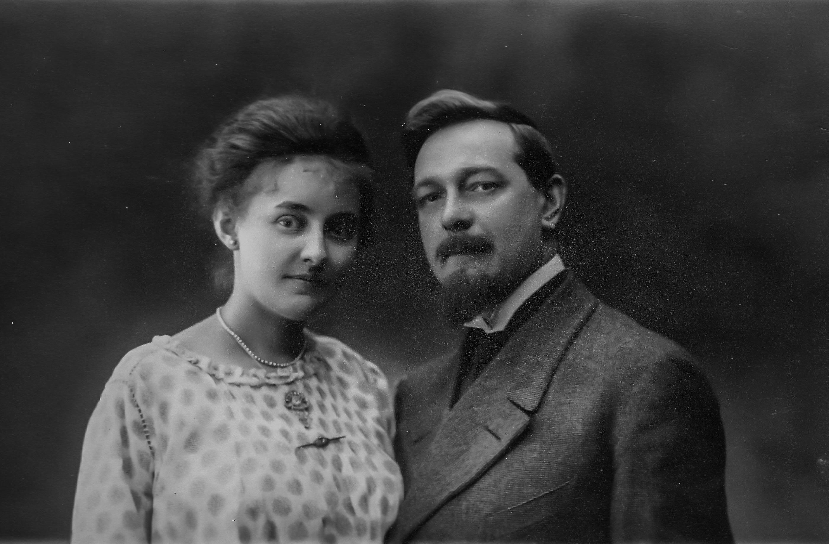 Met echtgenote Maria Albers