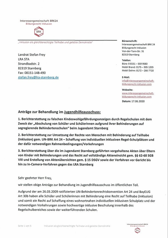 Antrag Jugendhilfeausschuss vom 17.06.20