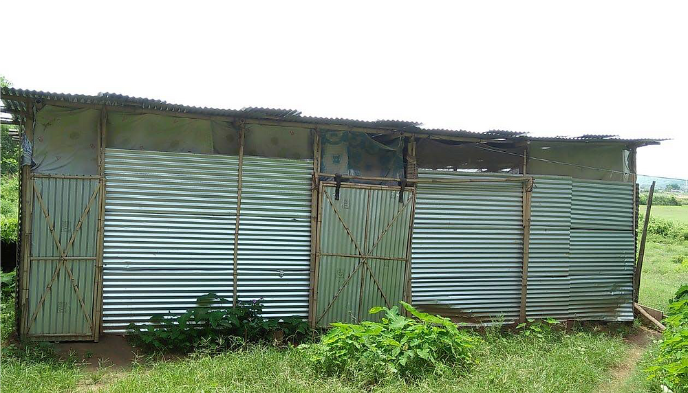 The boys dormitory at Parijat Academy in Assam, India
