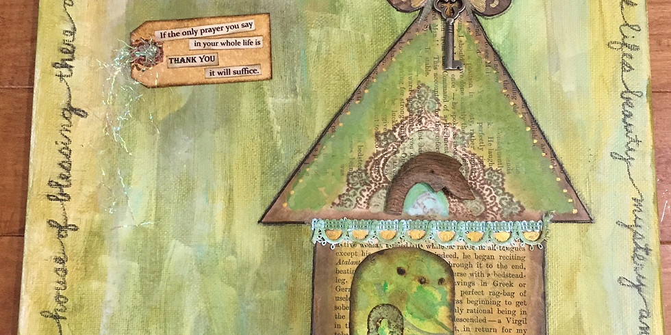 My House of Gratitude Mixed Media Collage with Katie Reitemeier