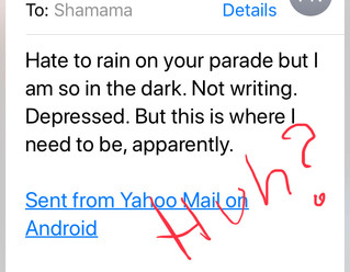 """Hate to rain on your parade, but…"""
