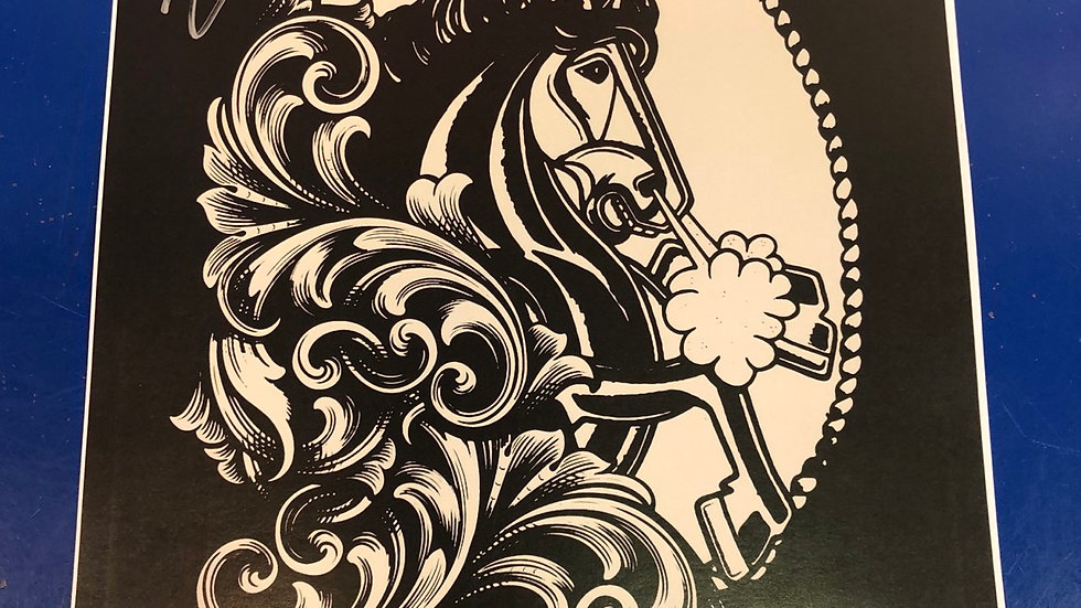 Signed pale horse Poster 12x18