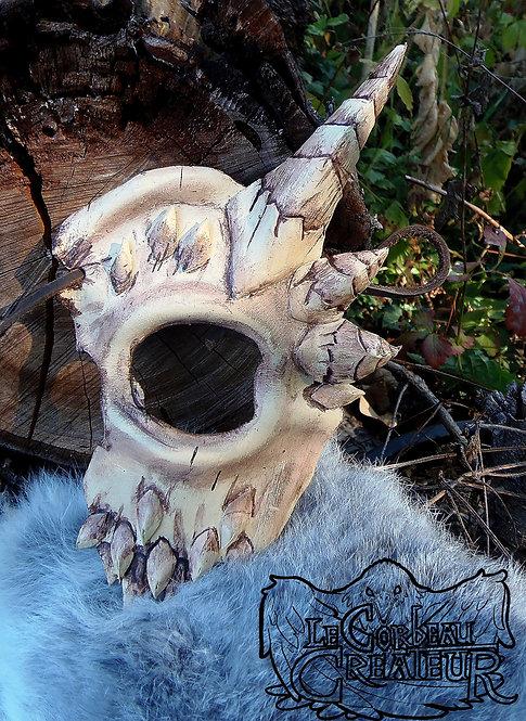 Demi-masque crâne de démon