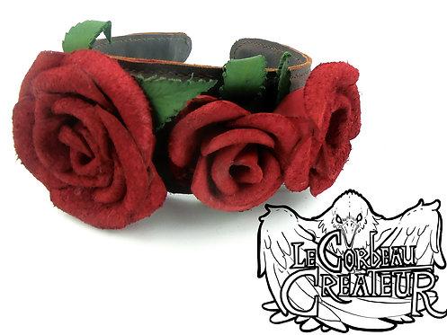Serre-tête roses rouges