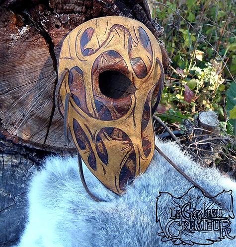 Demi-masque visage écorché