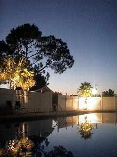 Pool Sunset at Wanee Lake