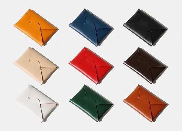 Letter Design Leather CardHolder 植鞣牛皮 皮革銀包/卡片套