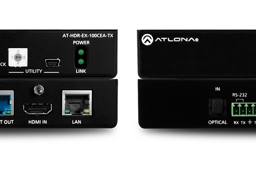 4K HDR HDMI Over 100 M HDBaseT TX/RX with Ethernet, Control, PoE, and Return Aud