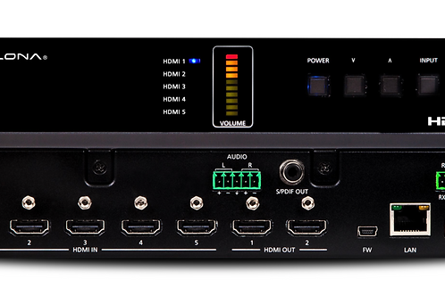 4K/UHD Five-Input HDMI Switcher with Mirrored HDMI Outputs