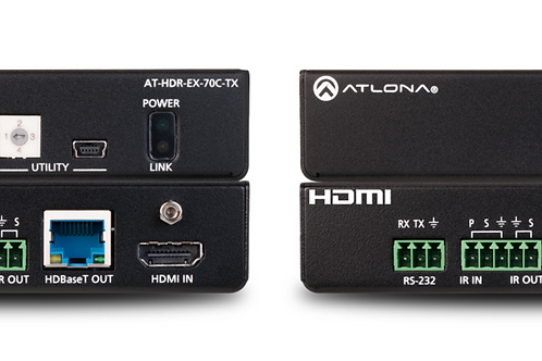 4K HDR HDMI Over HDBaseT TX/RX with Control and PoE