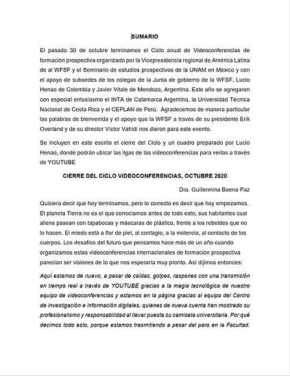 cierre de Ciclo VIDEOCONFERENCIAS OCTUBR