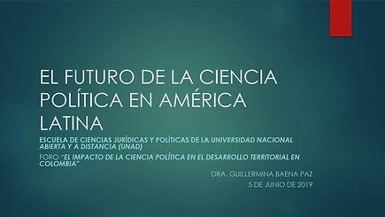EL FUTURO DE LA CIENCIA POLÍTICA EN AMÉR