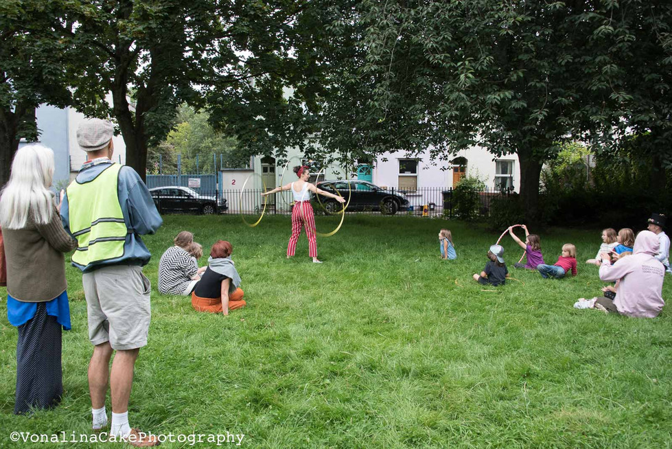 Iris hula hoops in Mina Road park.jpg