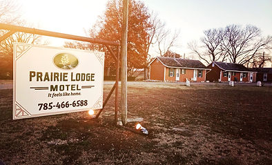 Prairie Lodge Motel Sign
