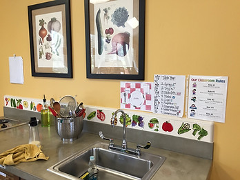 edible schoolyard kern county kitchen classroom